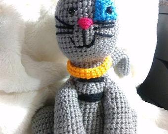 Crochet Gilbert cat Caillou