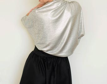 Silver shrug , evening shawls and wraps, bridal cover up, mother of the bride shrug