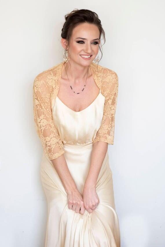 Wedding dress sleeves lace shawl detachable wedding dress