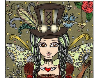 Steampunk Fairyland Coloring Book Adult coloring pages Fantasy Art Fairies, Dragons, Elephants, and more