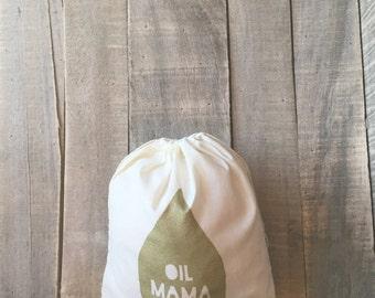 Oil Mama Project Bag - 10 x 12 Bag - Essential Oils - Oil Bag - Yarn Bag - Knitting Bag - Travel Bag - Christmas for her - Stocking Stuffer