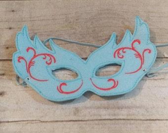 Mardi Gras Mask, Felt Mask, Kids Mask, Machine Stitched, Pretend Play, Child Mask, Festive Mask, Celebration Mask,  Mask, Blue Mask