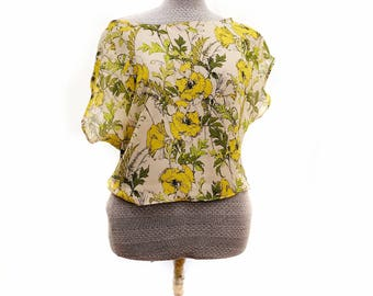 Yellow and Green floral blouse