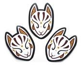 Little Japanese Kitsune Mask Vinyl Sticker