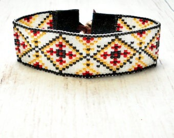 Loom Beaded Bracelet - Seed Bead Bracelet -Womens Bracelet - Bead Bracelet - Bead Woven Bracelet