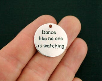 4 Dance Charms Antique Silver Tone - Dance like no one is watching - SC7051