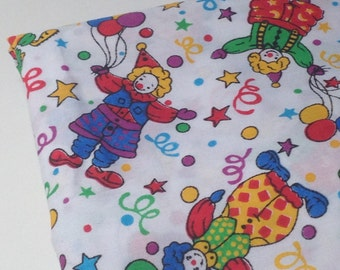 Clown Print Fabric, 1 yd Woven Mystery Fabric, Sewing Material, Novelty Print