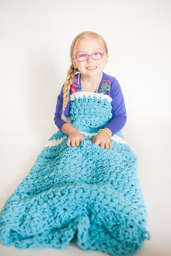 items similar to crocheted princess blanket kid s princess blanket adult cocoon princess. Black Bedroom Furniture Sets. Home Design Ideas