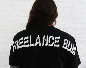 BAJUES Freelance Bum Puff Raised Print Unisex T-Shirt