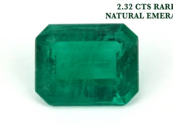 2.32 Cts Rare Dark Emerald, Loose Faceted Gemstone, Rectangle Emerald, Emerald Jewelry Supplies, May Birthstone, Genuine Emerald Beryl