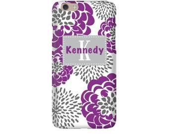 Monogram iPhone 7 Plus * 7 * 6/6S Plus * 6/6S * SE premium raspberry peony phone case personalized with name or initials