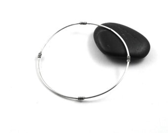Skinny bangle bracelet - Silver bangle - sterling silver bangle - stacking bracelet - minimalist jewelry - thin bangle - gift for her