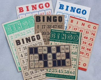 8 Bingo Cards and a Lotto Card