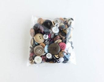 Vintage Button Lot 7 ounces Craft Sewing Supply Random Destash