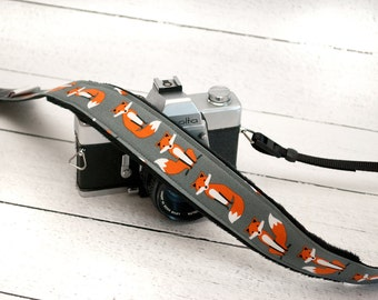 Fox Camera Strap - SLR Camera Strap - DSLR Camera Strap - Photographer Gift - Gifts for Her - Sly Fox