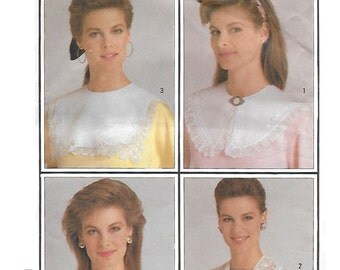Simplicity 7995 Women's 80s Set of Collars Sewing Pattern Sizes Small to Large