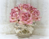 French Home Decor, Paris Chic Decor, French Chic Decor, Shabby Paris Chic, Rose Arrangement, French Country Decor, Parchment Roses, Roses