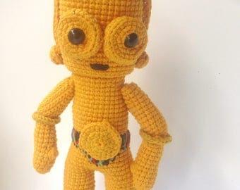 Star Wars C3PO Crochet Pattern/Amigurumi