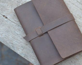 Leather Journal Refillable A5 lined pad
