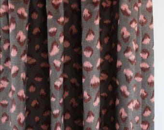 Kelly Wearstler Feline Custom Drapes (shown in Graphite Rose-comes in other colors)
