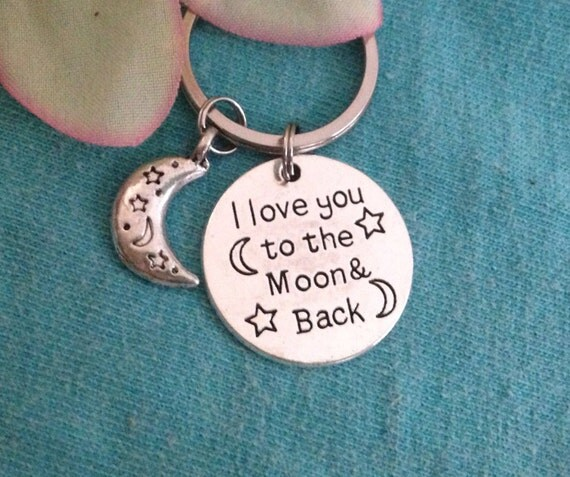 I Love You Quotes: Items Similar To I Love You To The Moon And Back Key Chain