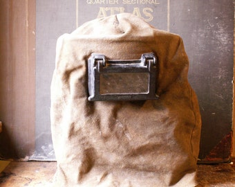 Vintage Jackson Leather Welding Hood - Great Guy Gift