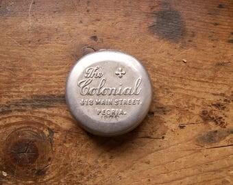 Vintage Aluminum Advertising Pill Tin - Medicine Container