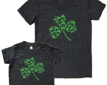 St Patricks Day Mother Son Matching Shamrock Shirts - Mommy and Me Shirts, Tshirt Set T shirt gift, mom shirt mother son, daughter, boy girl
