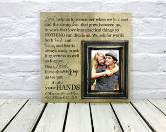 Personalized Anniversary Gift Picture Frame,Wedding Gift, Photo Frame, Lord Couple Gift, Housewarming Gift, Wood Picture Frame, Gift for Him