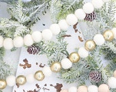 Shop this pic! White Felt Ball Garlands 3 STYLES - 3 ft & 5 ft lengths -SHIPS FREE! Ready to hang! Easy Christmas decorating