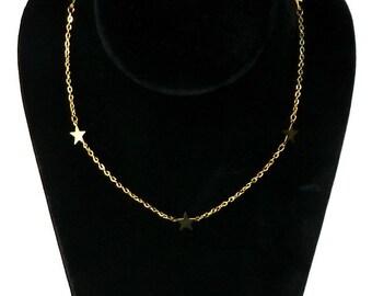 Vintage Gold Star Necklace Never Worn by Park Lane