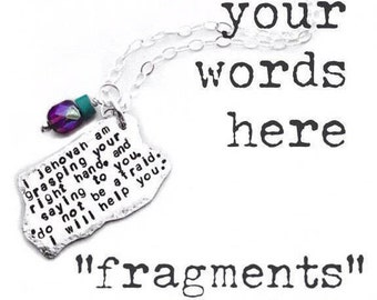 fragments are a Design-your-own Sterling Silver pendant.