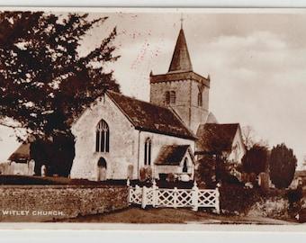 Witley church - Britain - real photographs - baroque - antique postcard - Free shipping Canada USA