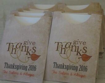 Thanksgiving Utensil holder, falliday Table favors, friendsgiving Utensil holder favors, Thanksgiving table decoration.  Set of 12.