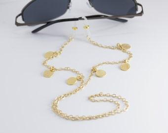 Hammered Gold Eyeglass Chain,Lanyard,Eyeglass Lanyard,Eye glass Chain,Glasses Chain,Reading Glasses Chain, Eyeglass Holder Necklace, Eyewear