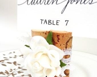 Lace Wedding Place Card Holder. Wedding Name Sign. Name Card Holder. Winery Wedding Table Decor. Rustic Vineyard Wedding. Wine Theme Wedding