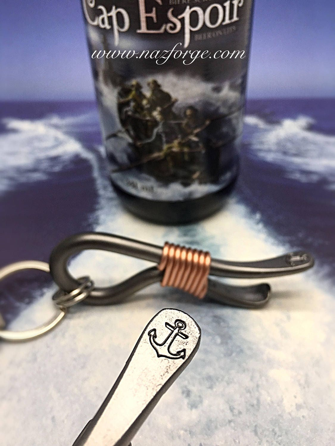 anchor keychain bottle opener marines navy seal marine corps boat personalized option. Black Bedroom Furniture Sets. Home Design Ideas