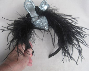 For the Gal Who Has Everything , A Pair of Sparkling Crystal High Heels Fascinator