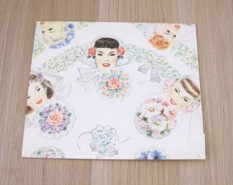 Vintage Bride Gift Wrapping Paper