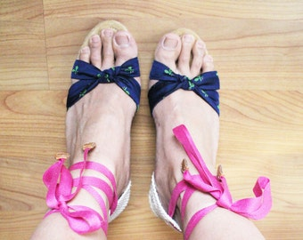 Size 10 US Vintage Espadrille Summer Sandals New Old Stock