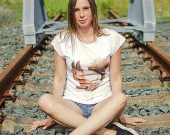 Eichhörnchen - Fair Trade T-Shirt Damen