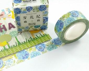 Flower Washi Tape (15mm X 7M)