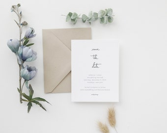 Rebecca Wedding Save the Date - Sample