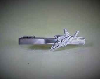 Tie Bar Tie Cli,  Silver F22 Raptor Fighter Jet  Mens Accessories Handmade