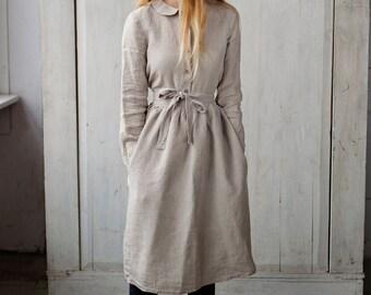 Romantic Apron, Natural Linen, Women Fashion, Hand Made Apron, Women Clothing, Natural Linen, Romantic Apron