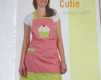 Apron pattern Cupcake Cutie by Cotton Ginnys one size fits all full apron