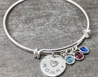 Mom Bracelet Personalized, Birthstone Bracelet for Mom, Mother Gift, Gift for Her, Birthstone Jewelry, Swarovski Birthstones, Mom Gift Idea