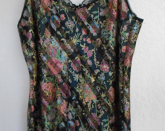 Sheer Burnout Nightgown Nightie Chemise Romantic Floral Size 2X