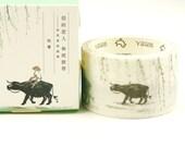 Asia Cowboy - Japanese Washi Masking Tape - 30mm wide - 7.6 yard