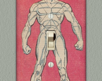 Iceman - Superhero Light Switch Plate